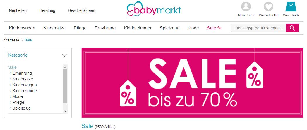 babymarkt Sale