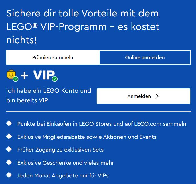 Das VIP-Programm von Lego