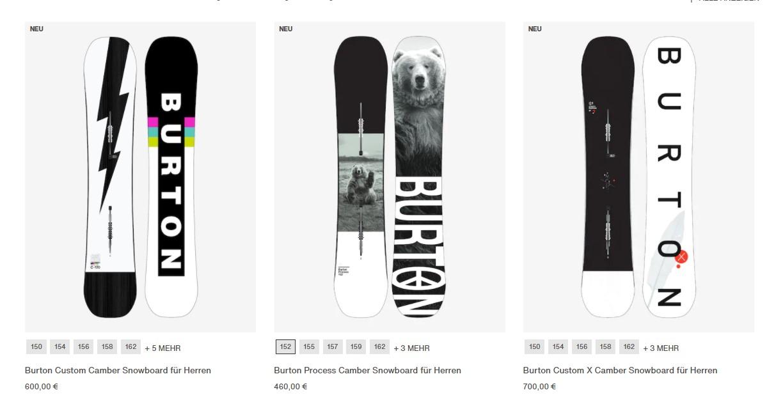 Mit einem Gutschein von Burton Snowboards sparen
