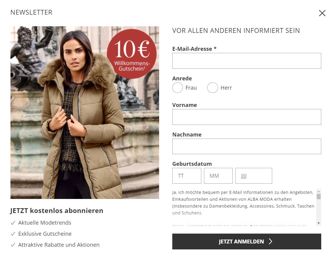 Der Newsletter von Alba Moda