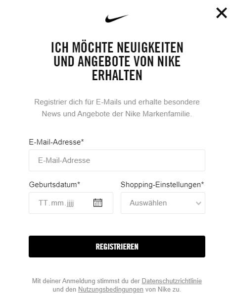 Der Newsletter von Nike