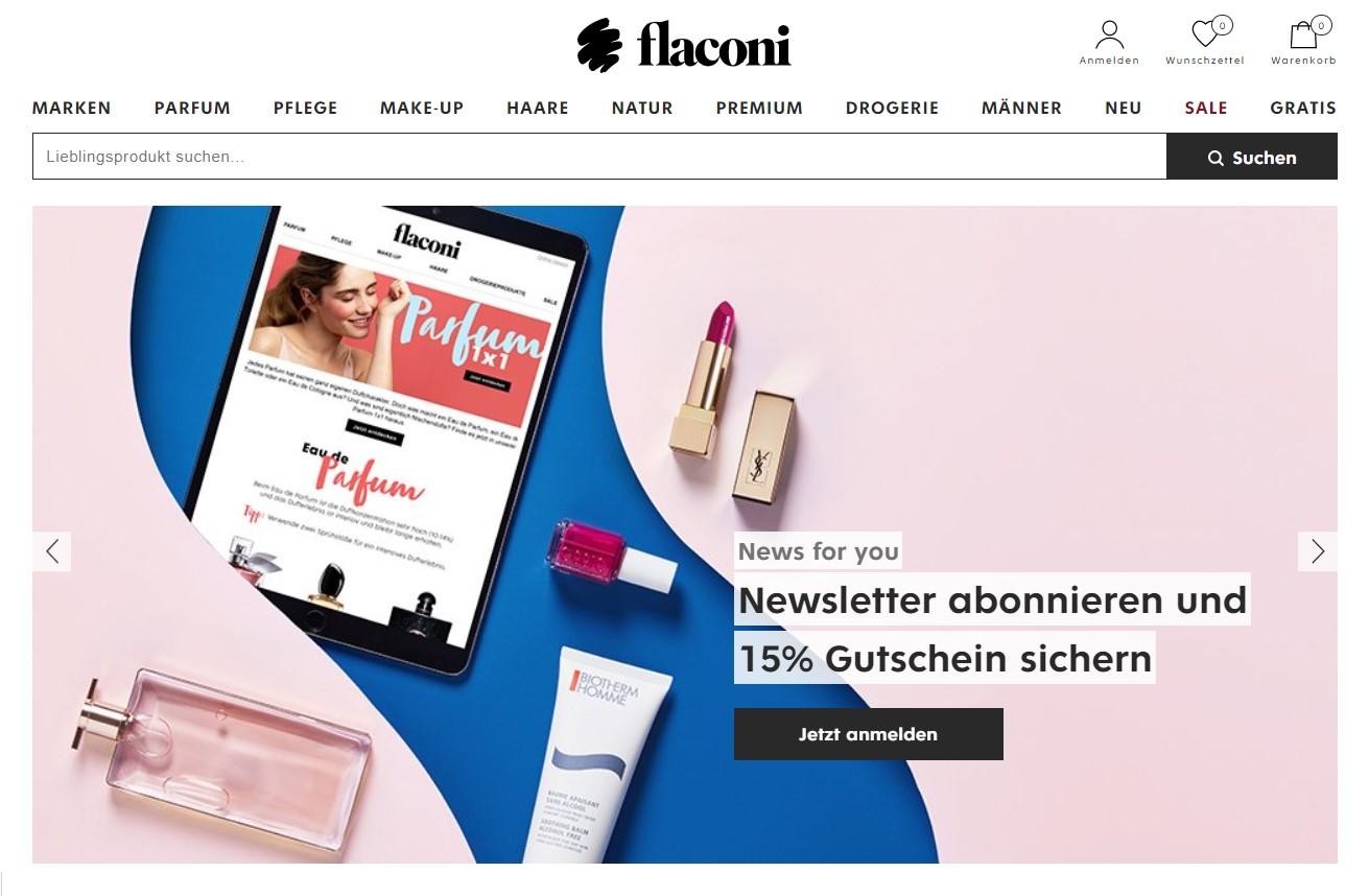 Bleib mit dem Newsletter stets über Gutscheinaktionen von Flaconi informiert.