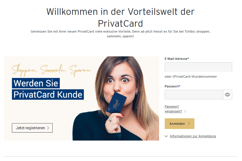 Die Tchibo Privat Card