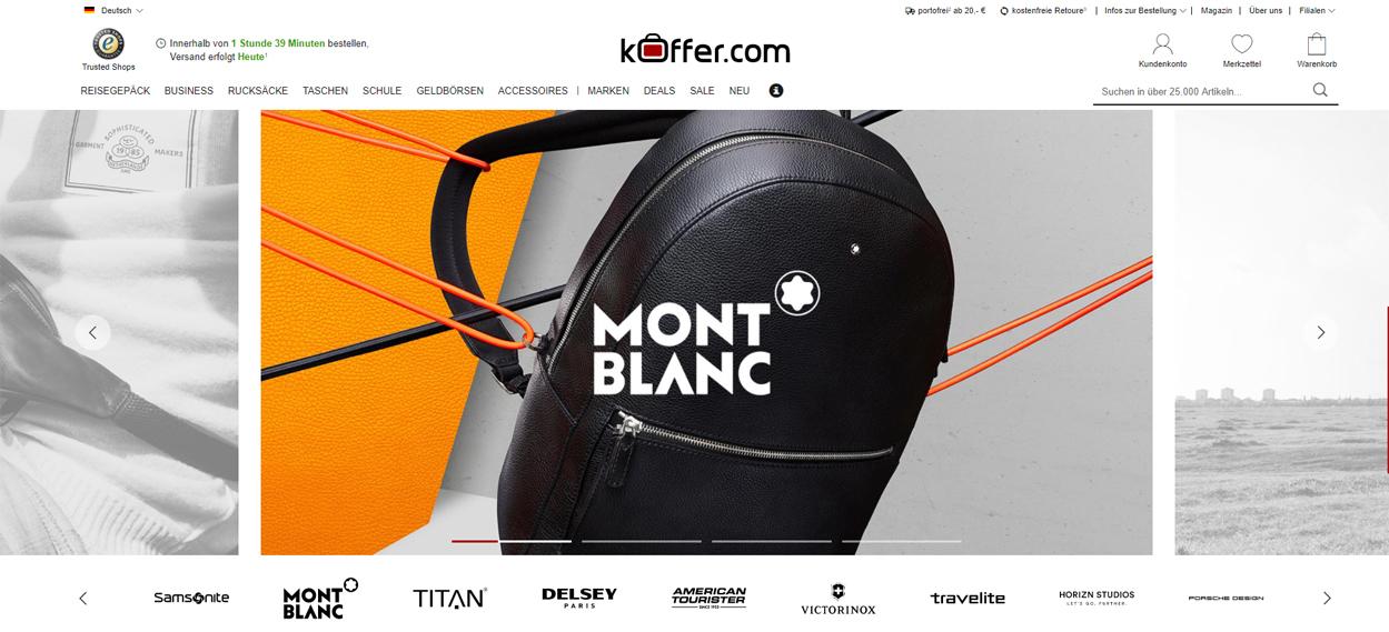 Koffer.com Startseite