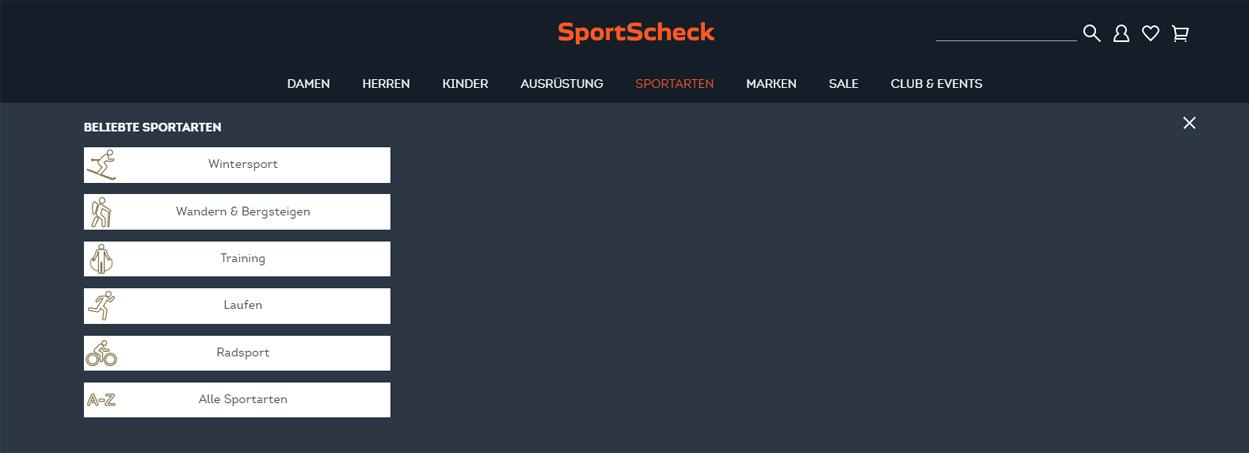 die beliebtesten Sportarten bei SportScheck